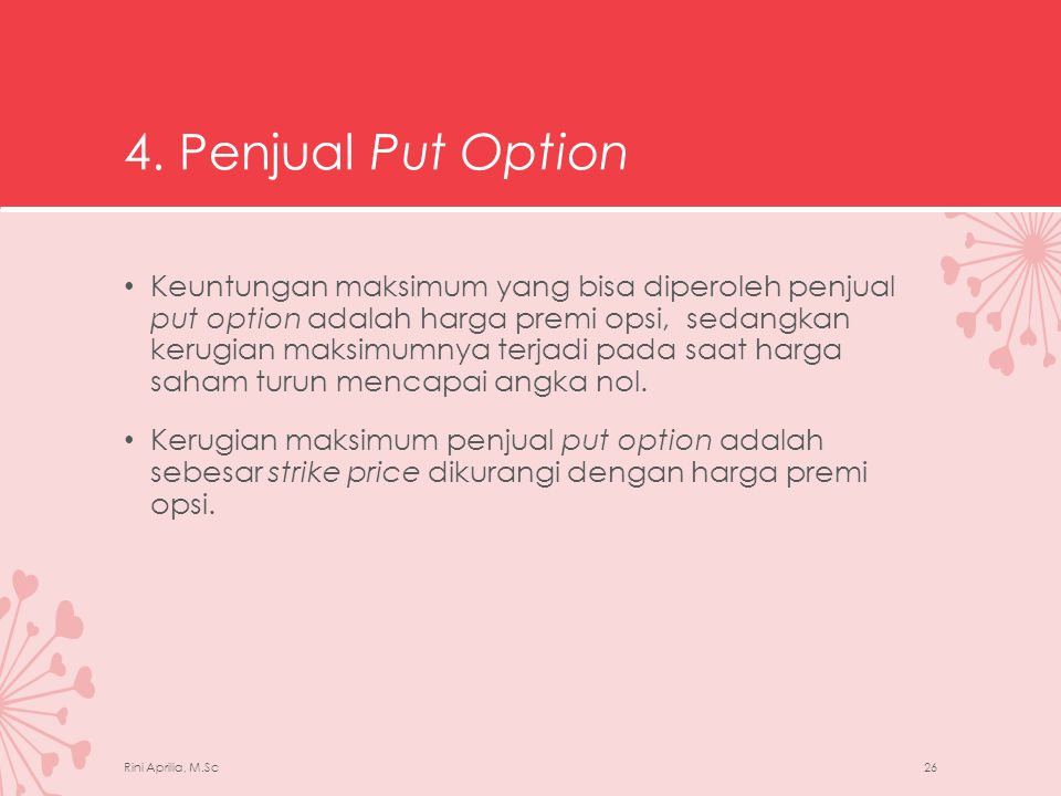 4. Penjual Put Option
