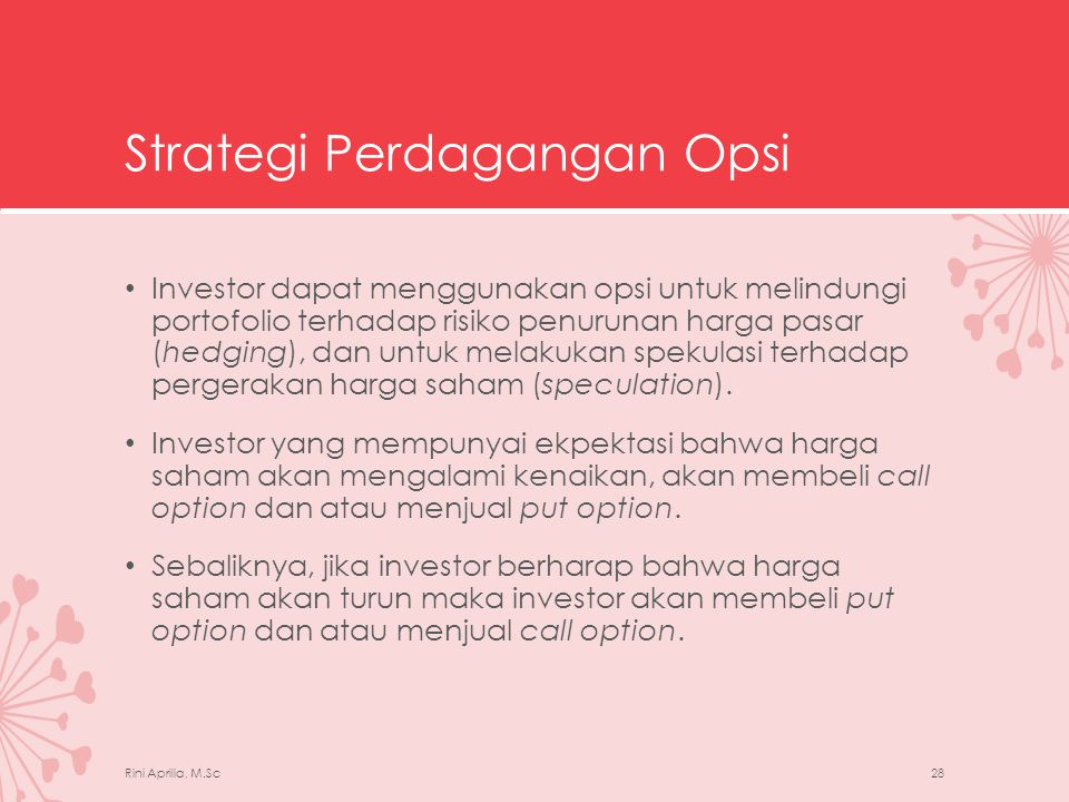 Strategi Perdagangan Opsi