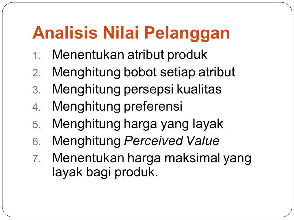 Analisis Nilai Pelanggan