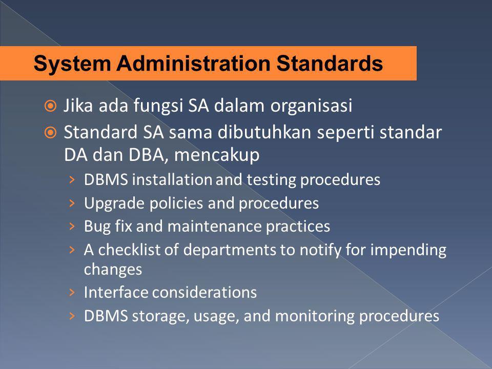 System Administration Standards