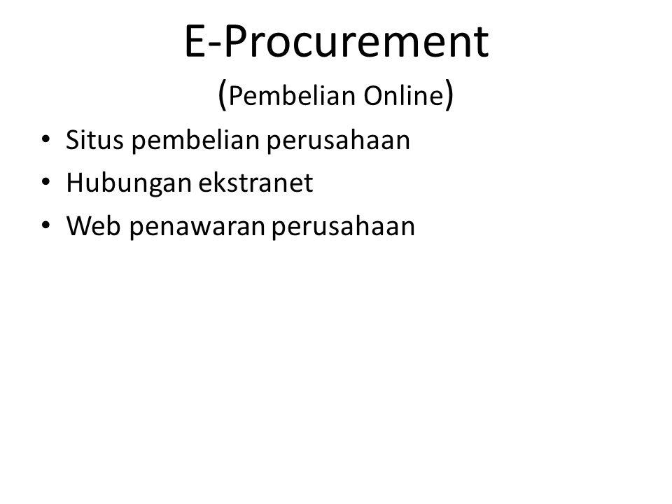 E-Procurement (Pembelian Online)