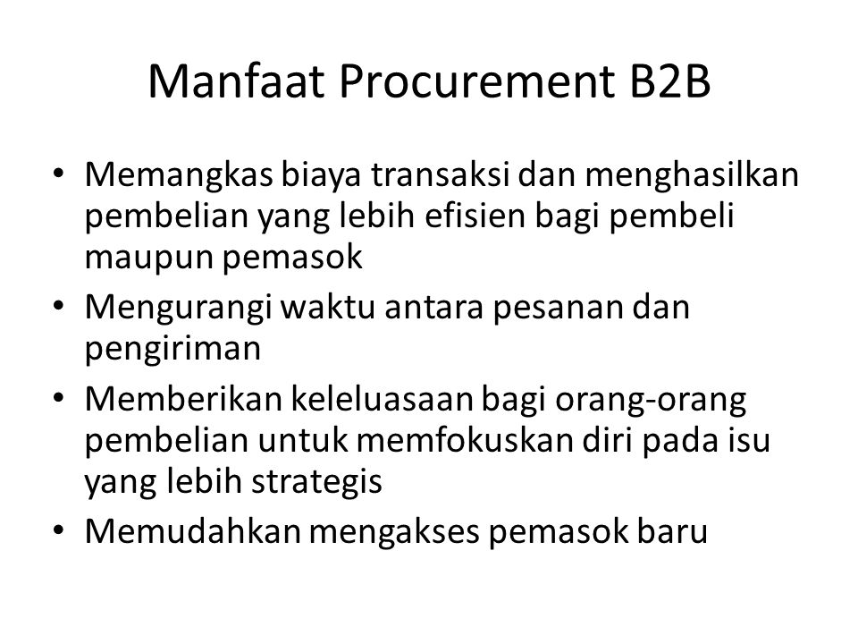 Manfaat Procurement B2B
