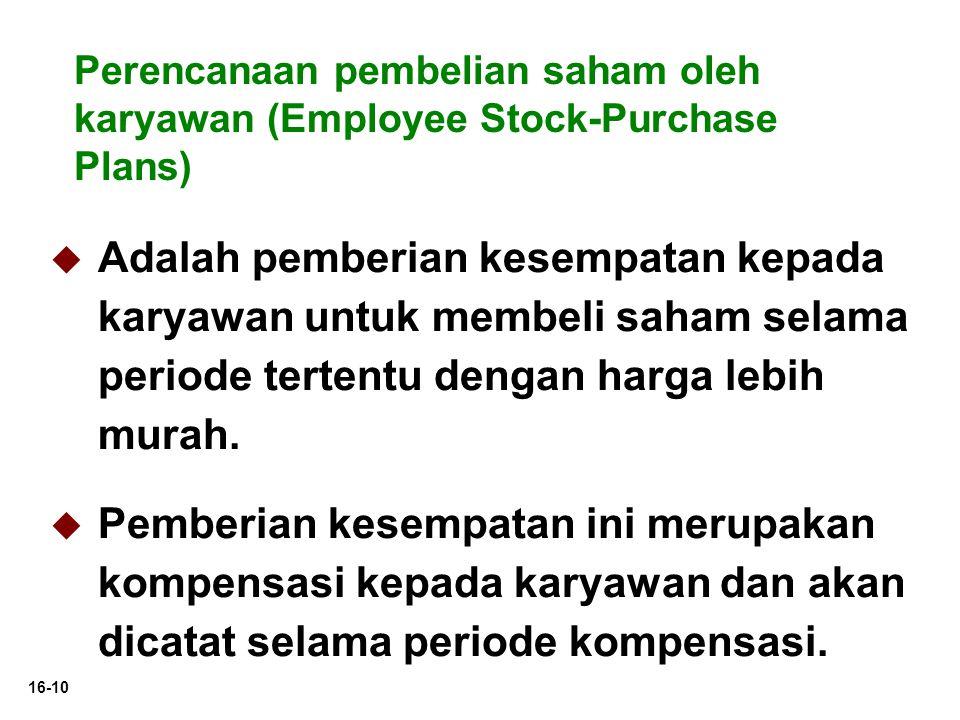 Perencanaan pembelian saham oleh karyawan (Employee Stock-Purchase Plans)