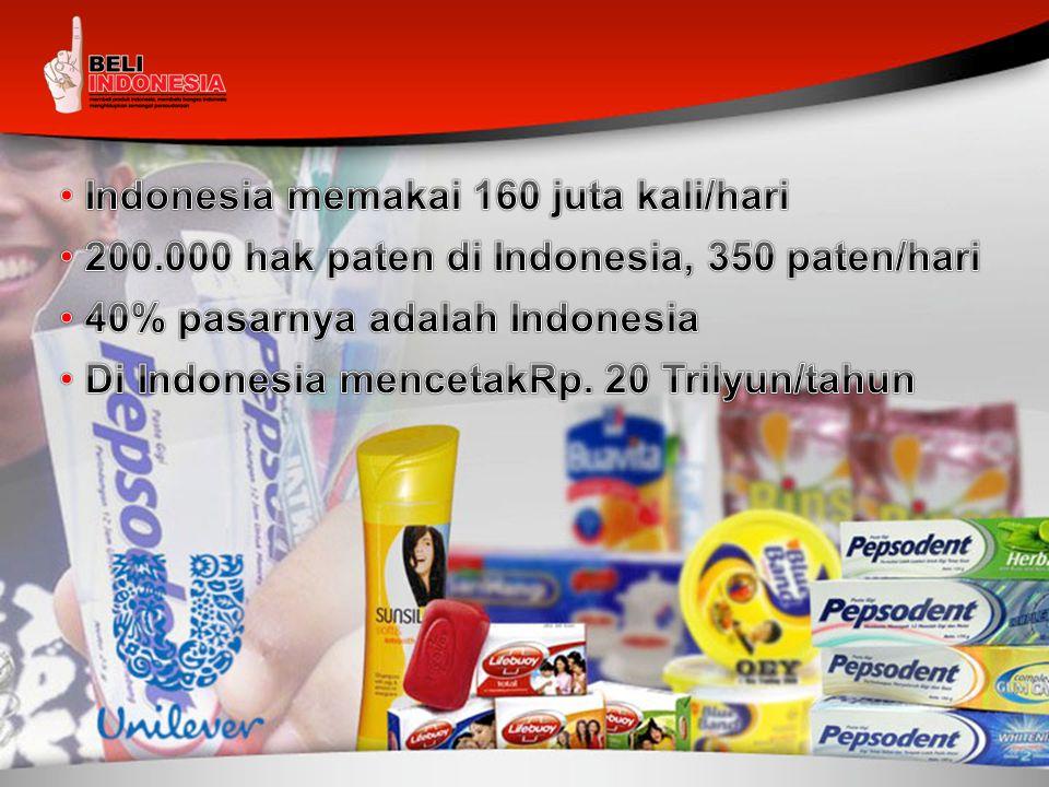 Indonesia memakai 160 juta kali/hari