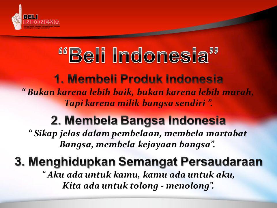 Beli Indonesia 1. Membeli Produk Indonesia