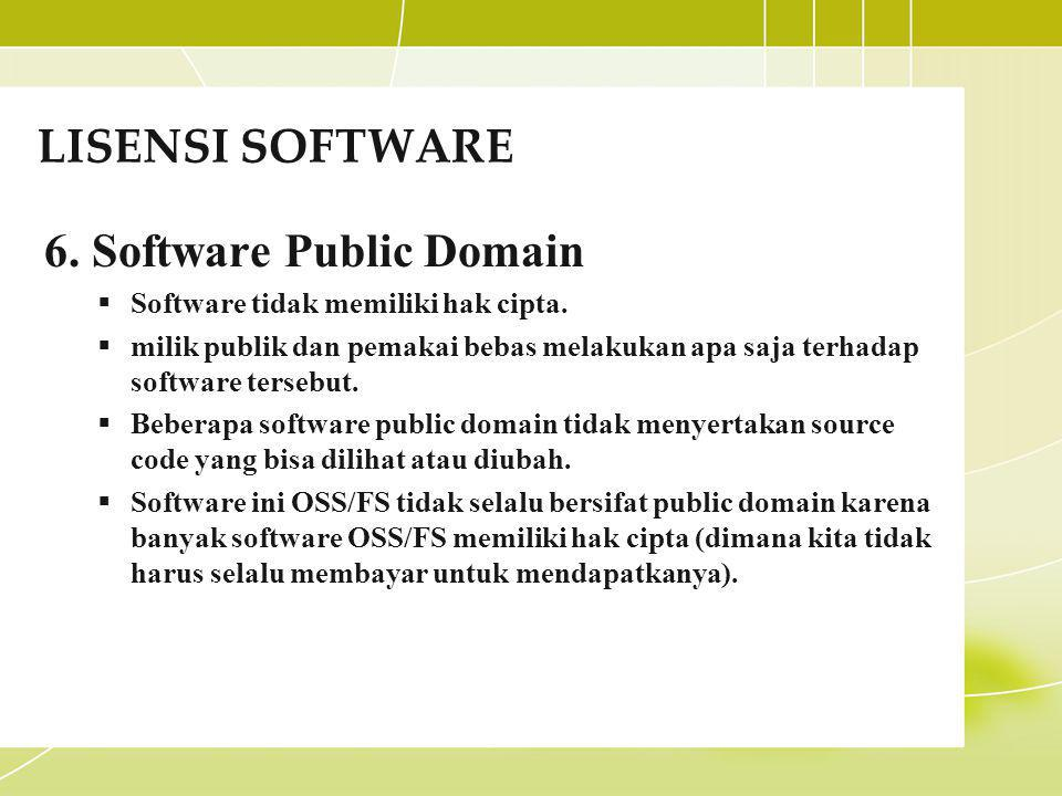 6. Software Public Domain