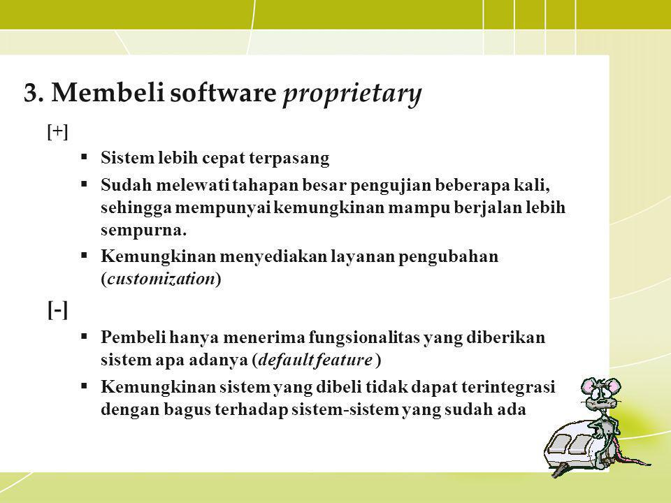3. Membeli software proprietary