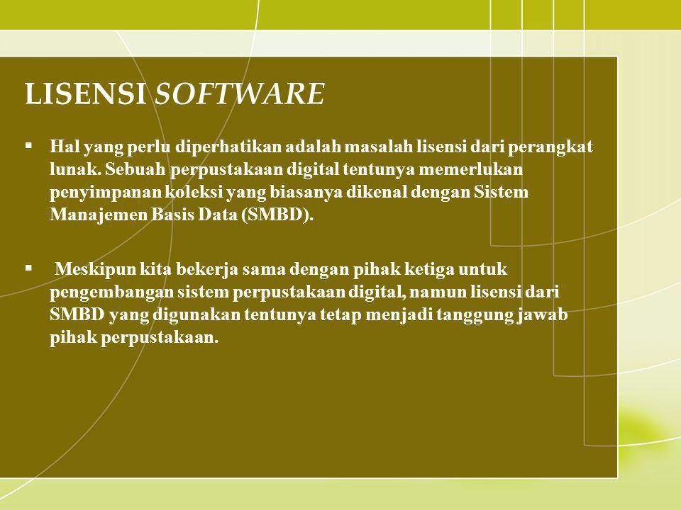 LISENSI SOFTWARE