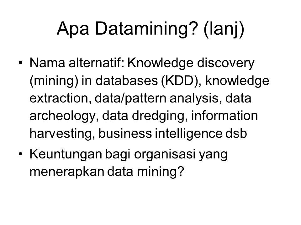 Apa Datamining (lanj)