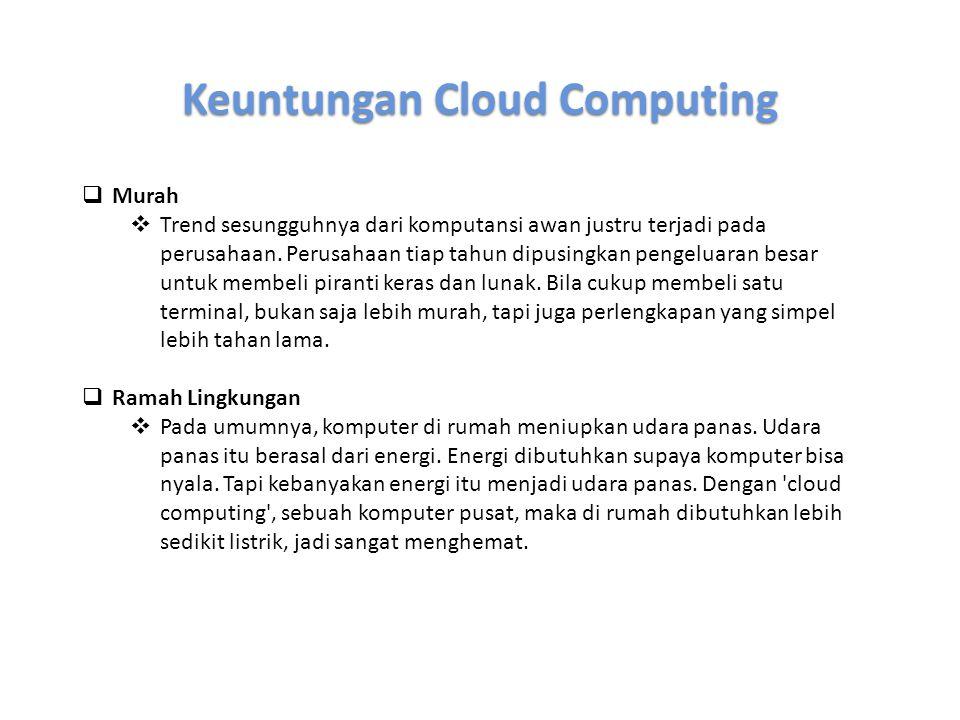 Keuntungan Cloud Computing