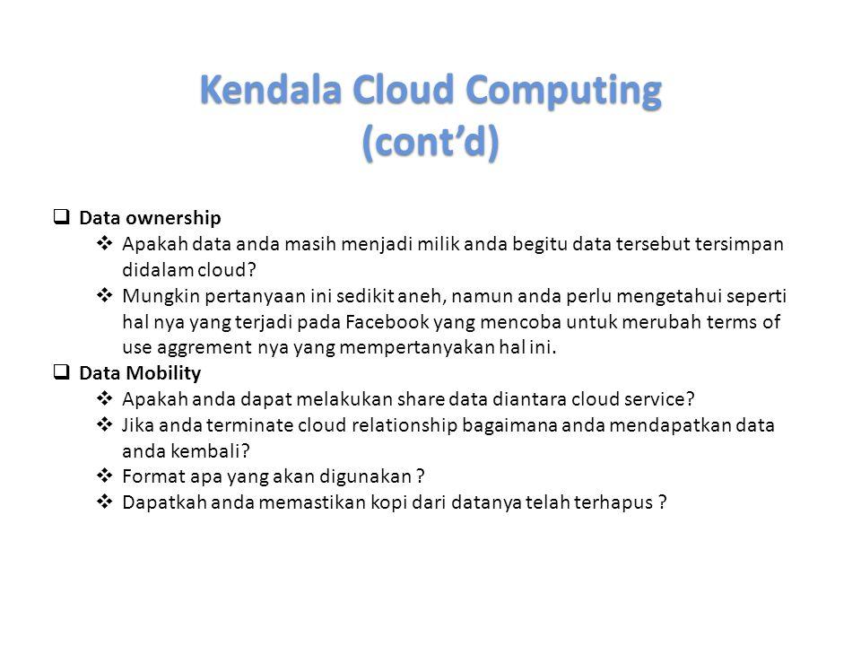 Kendala Cloud Computing
