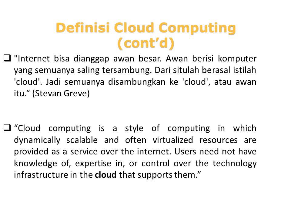 Internet bisa dianggap awan besar