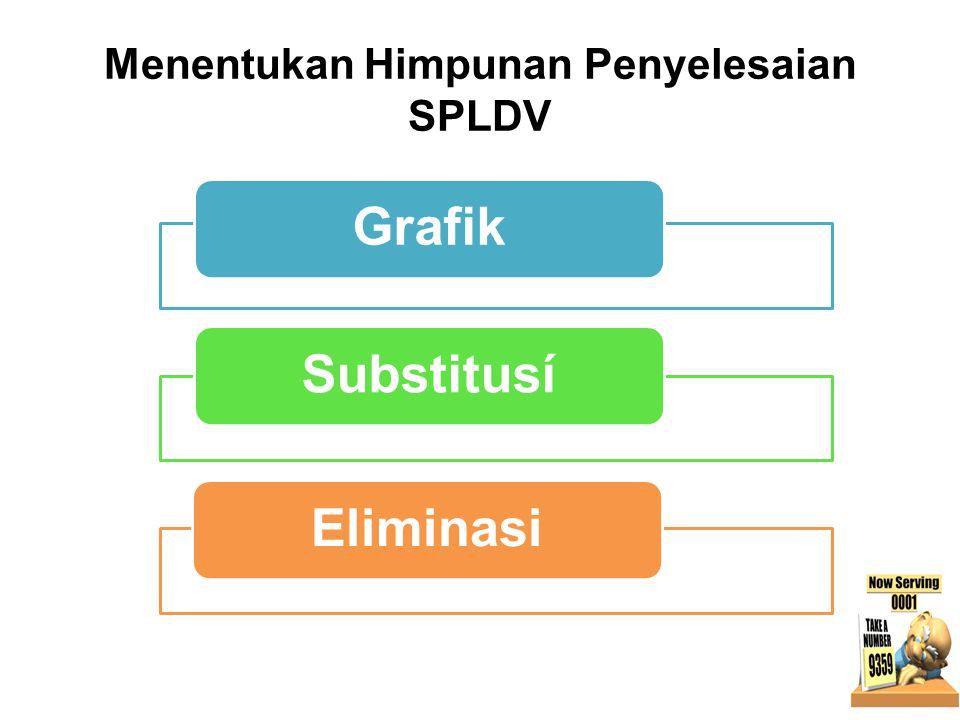 Menentukan Himpunan Penyelesaian SPLDV