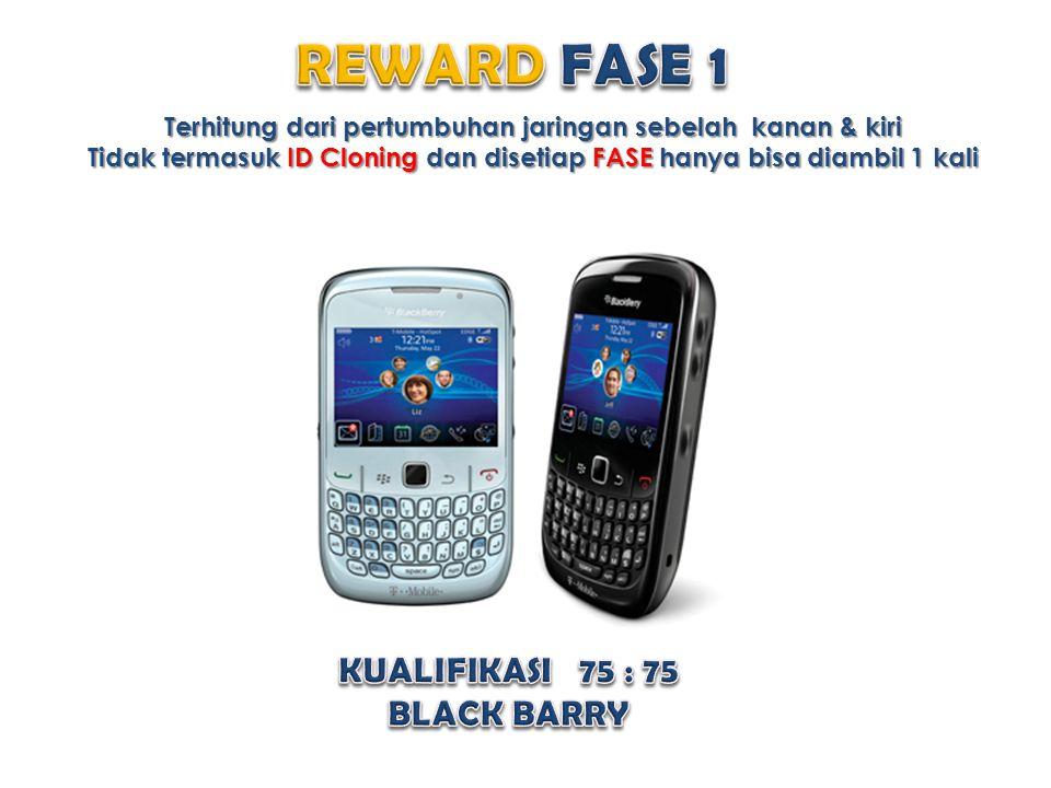 REWARD FASE 1 KUALIFIKASI 75 : 75 BLACK BARRY