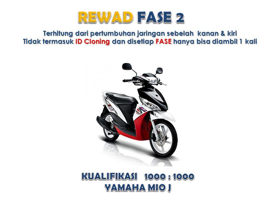 REWAD FASE 2 KUALIFIKASI 1000 : 1000 YAMAHA MIO J