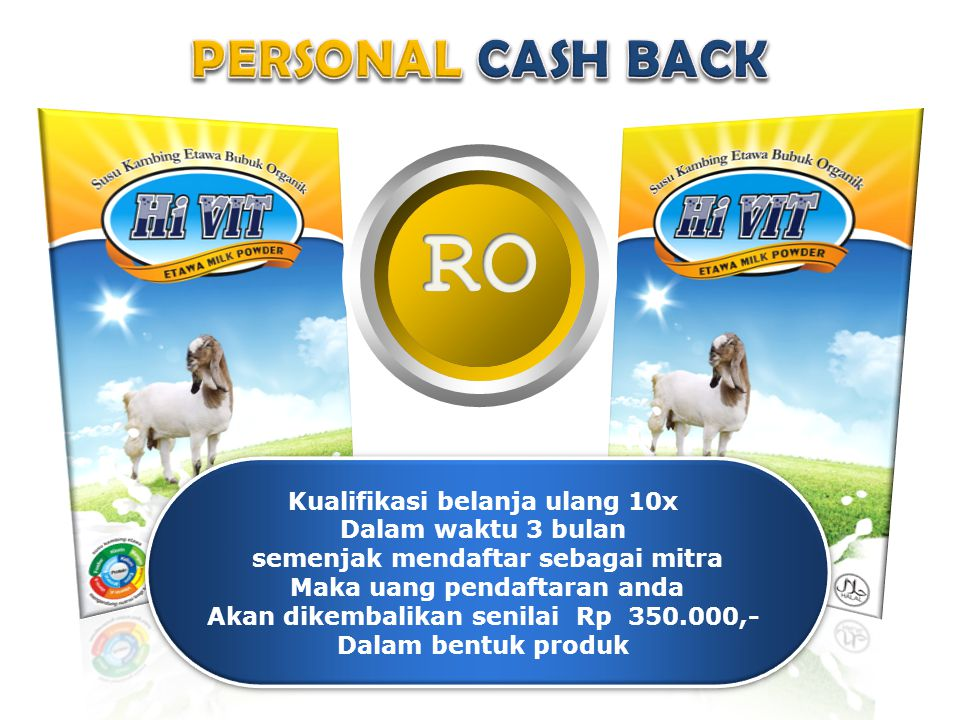 RO PERSONAL CASH BACK Kualifikasi belanja ulang 10x