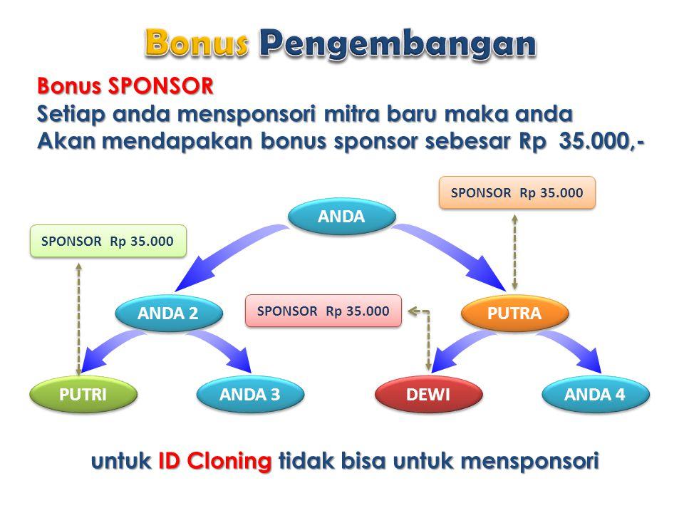 Bonus Pengembangan Bonus SPONSOR