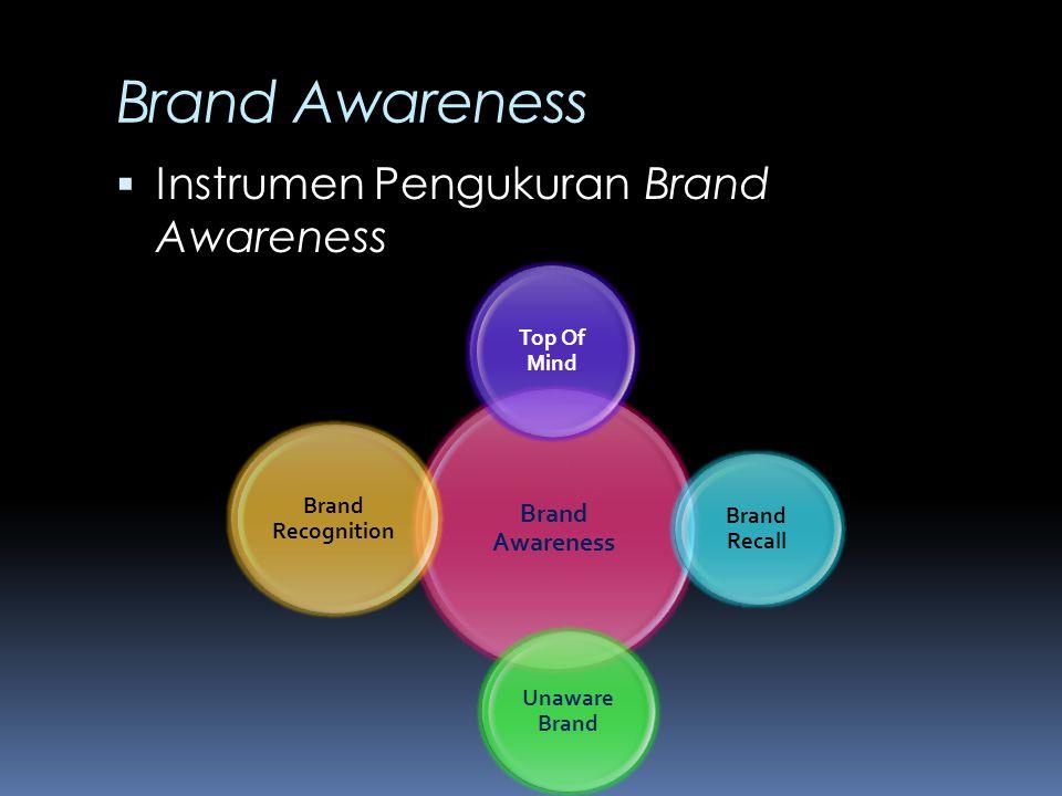 Brand Awareness Instrumen Pengukuran Brand Awareness Brand Awareness