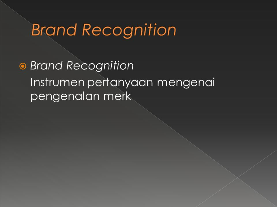 Brand Recognition Brand Recognition