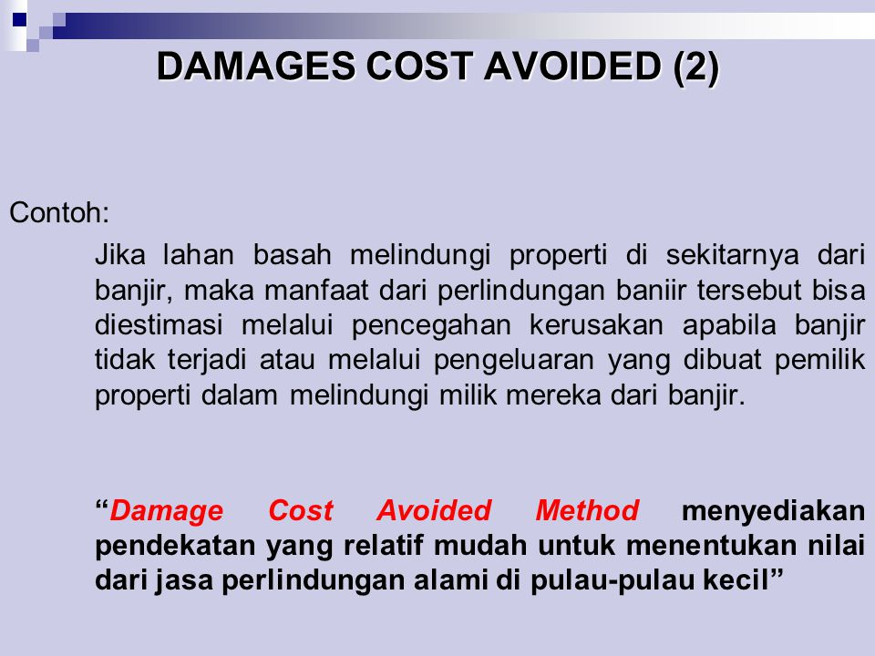 DAMAGES COST AVOIDED (2)
