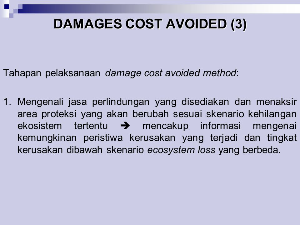 DAMAGES COST AVOIDED (3)