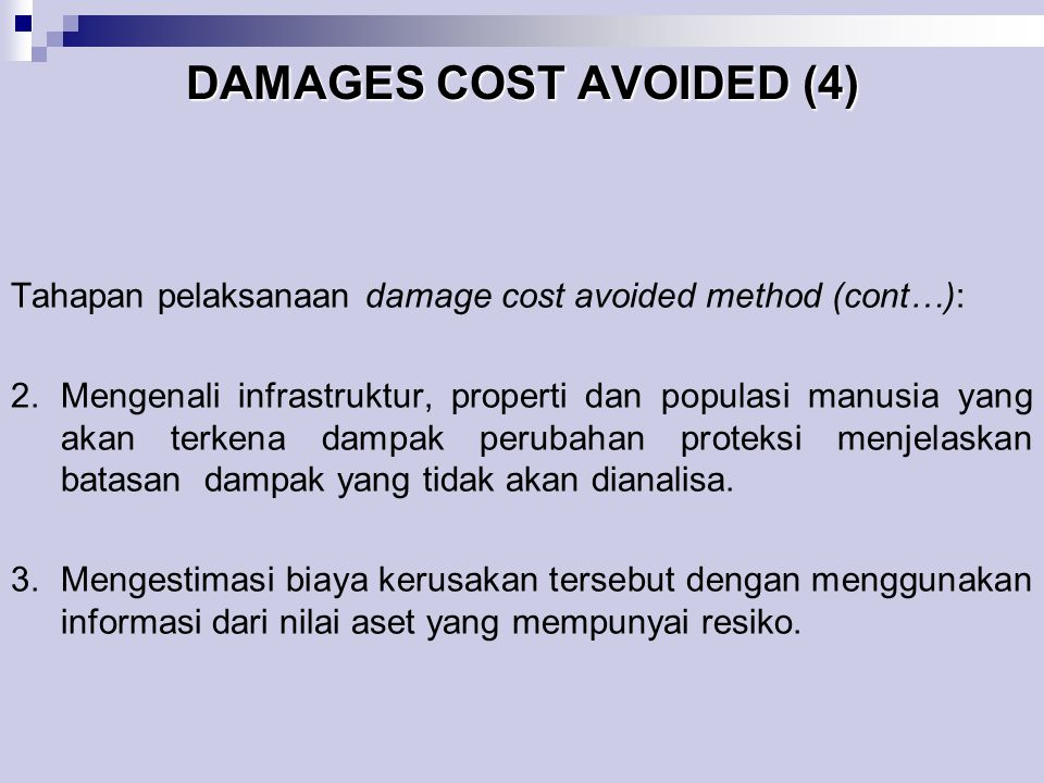 DAMAGES COST AVOIDED (4)