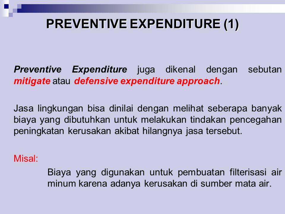 PREVENTIVE EXPENDITURE (1)