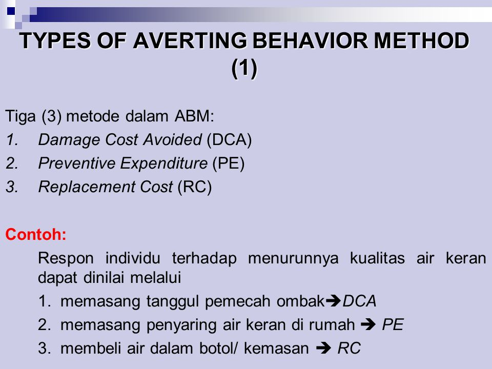TYPES OF AVERTING BEHAVIOR METHOD (1)