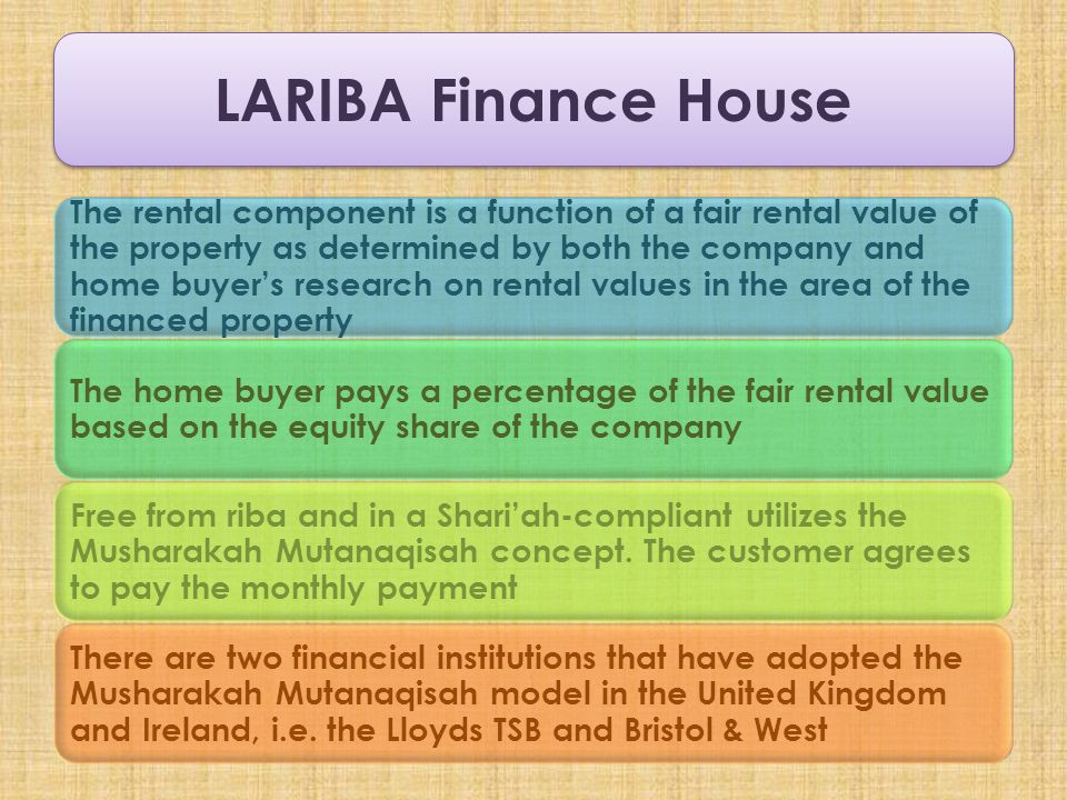 LARIBA Finance House