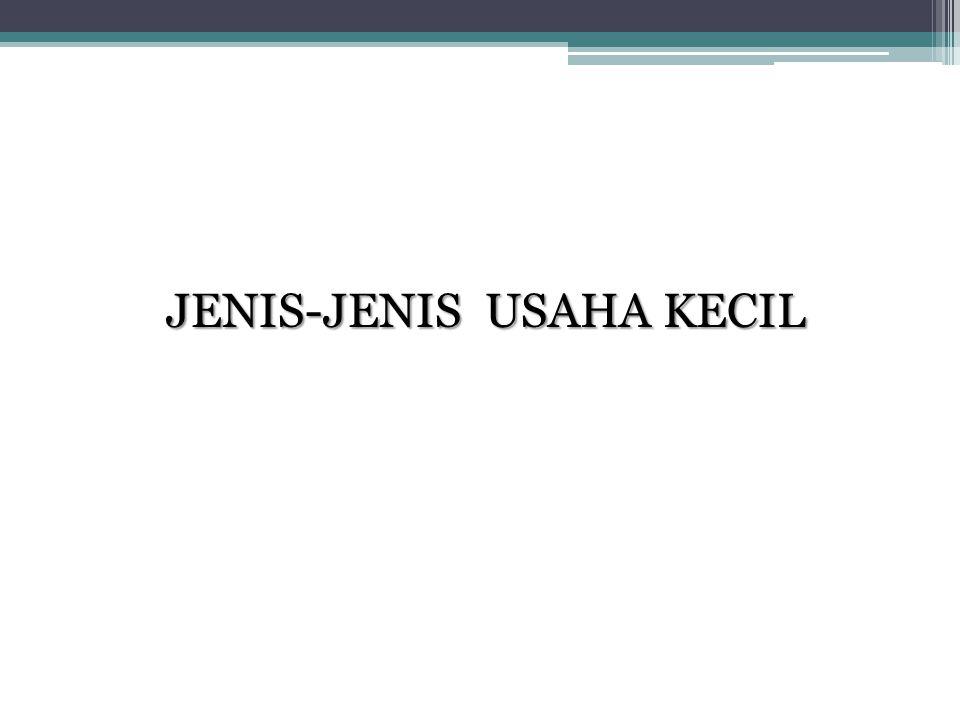 JENIS-JENIS USAHA KECIL