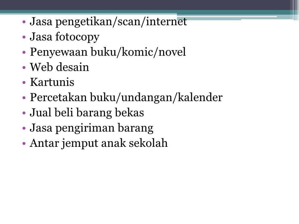 Jasa pengetikan/scan/internet