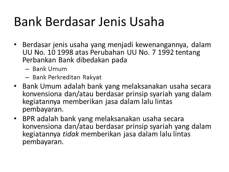 Bank Berdasar Jenis Usaha