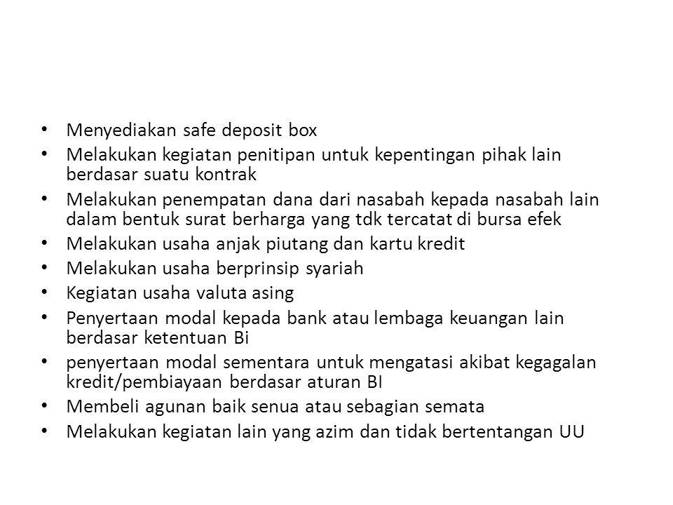 Menyediakan safe deposit box