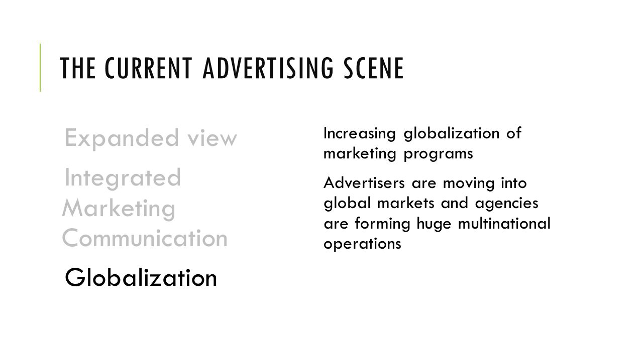 The Current Advertising Scene