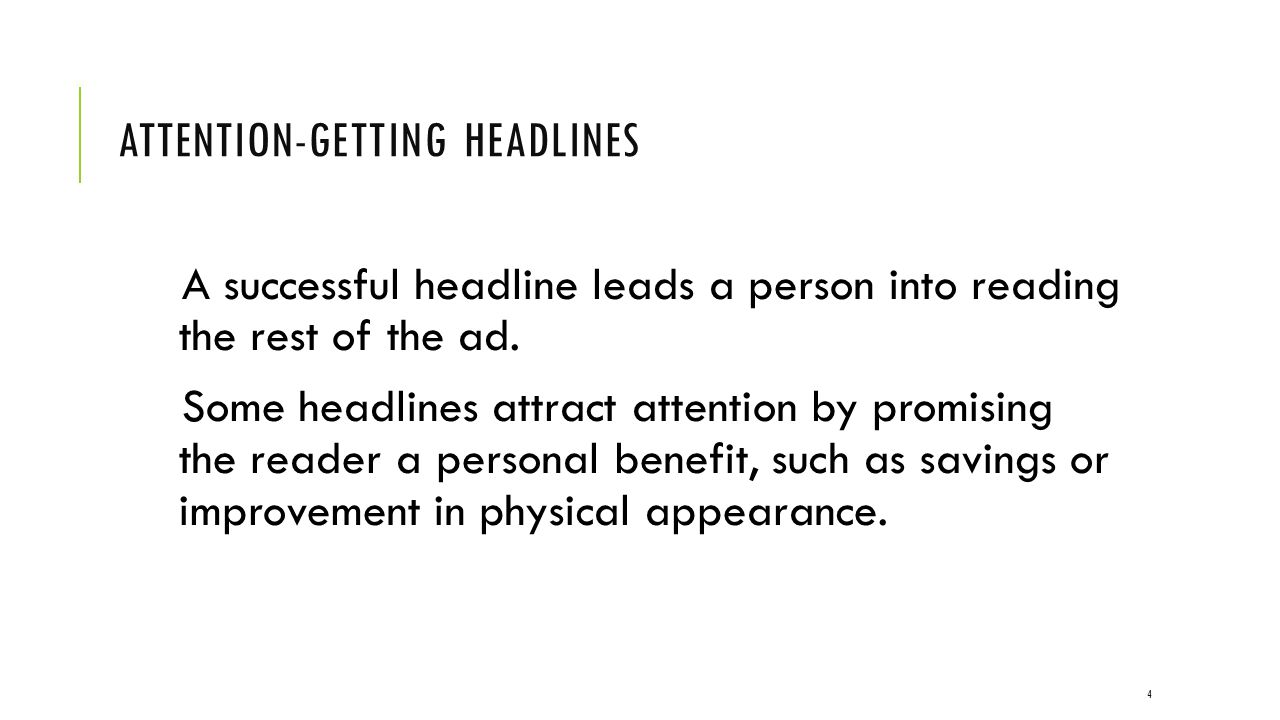 Attention-getting headlines