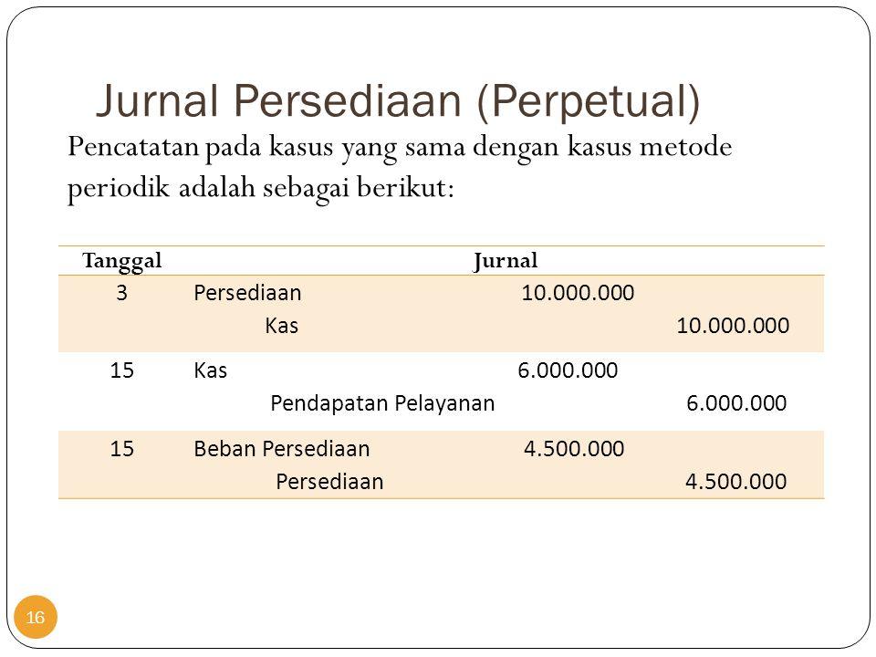 Jurnal Persediaan (Perpetual)
