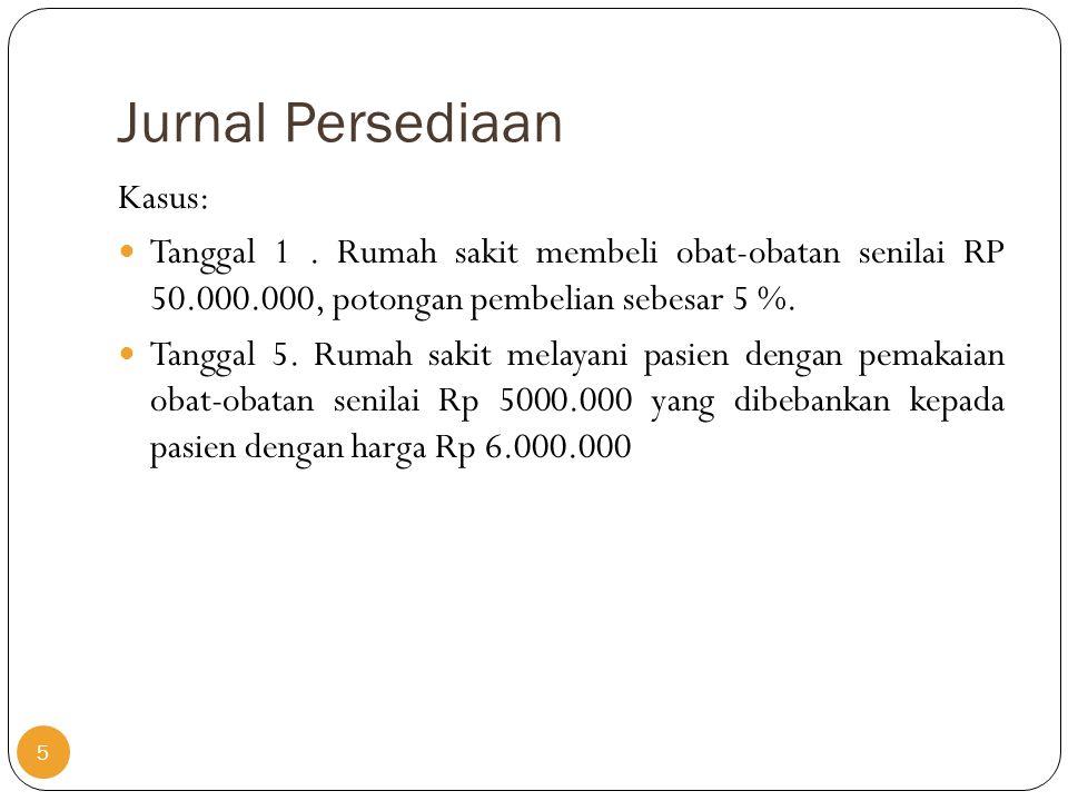 Jurnal Persediaan Kasus: