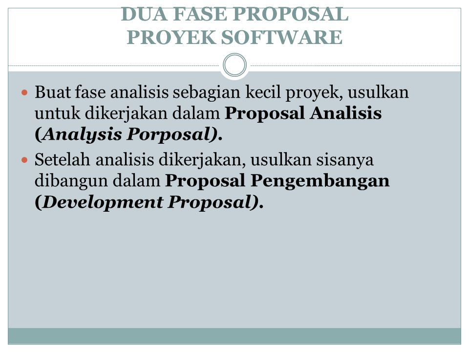 DUA FASE PROPOSAL PROYEK SOFTWARE