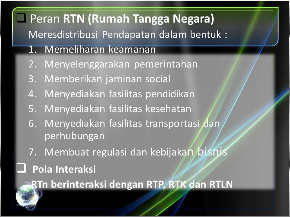 Peran RTN (Rumah Tangga Negara)