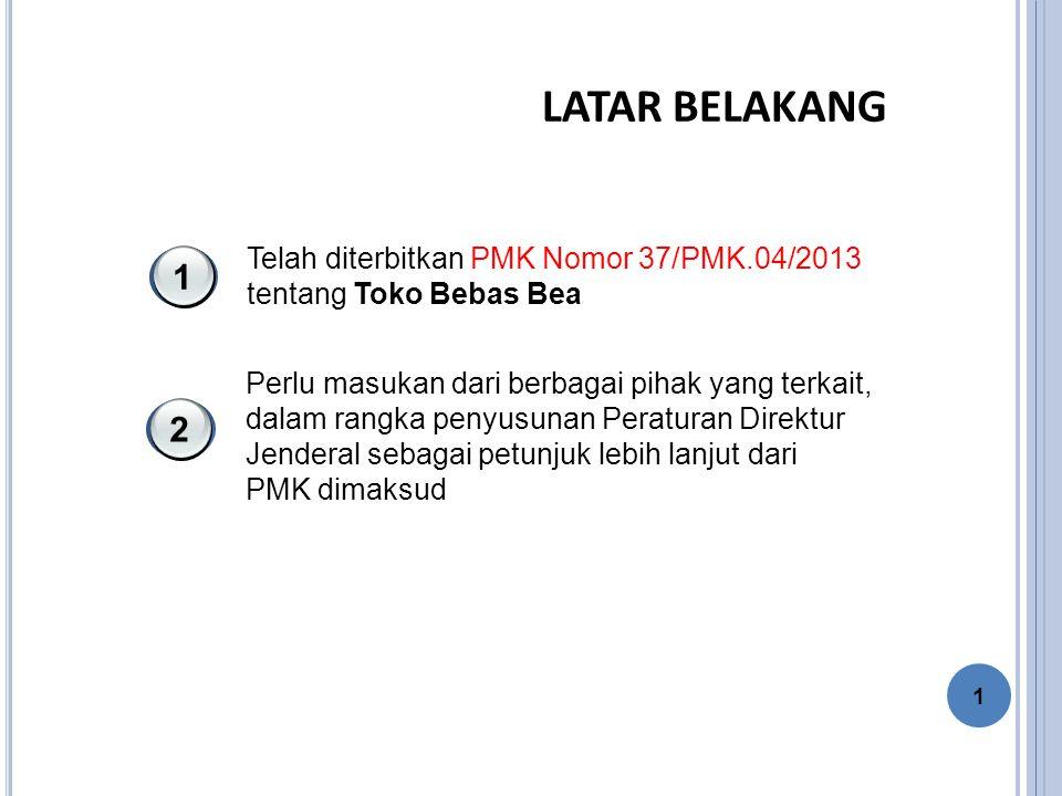LATAR BELAKANG 1 2 Telah diterbitkan PMK Nomor 37/PMK.04/2013