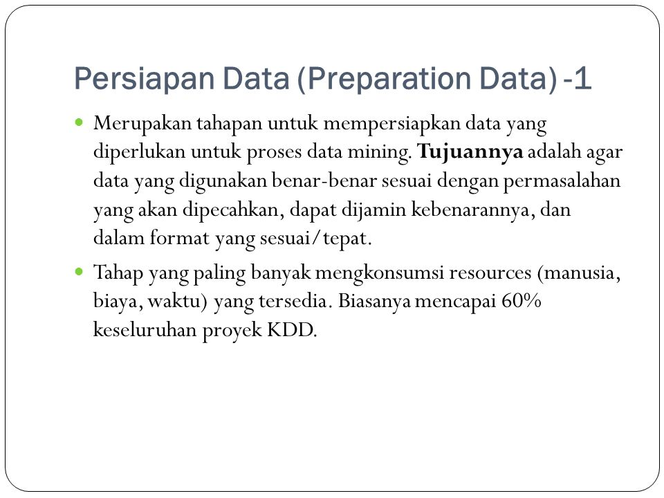Persiapan Data (Preparation Data) -1