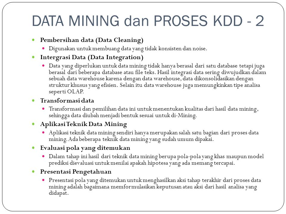 DATA MINING dan PROSES KDD - 2