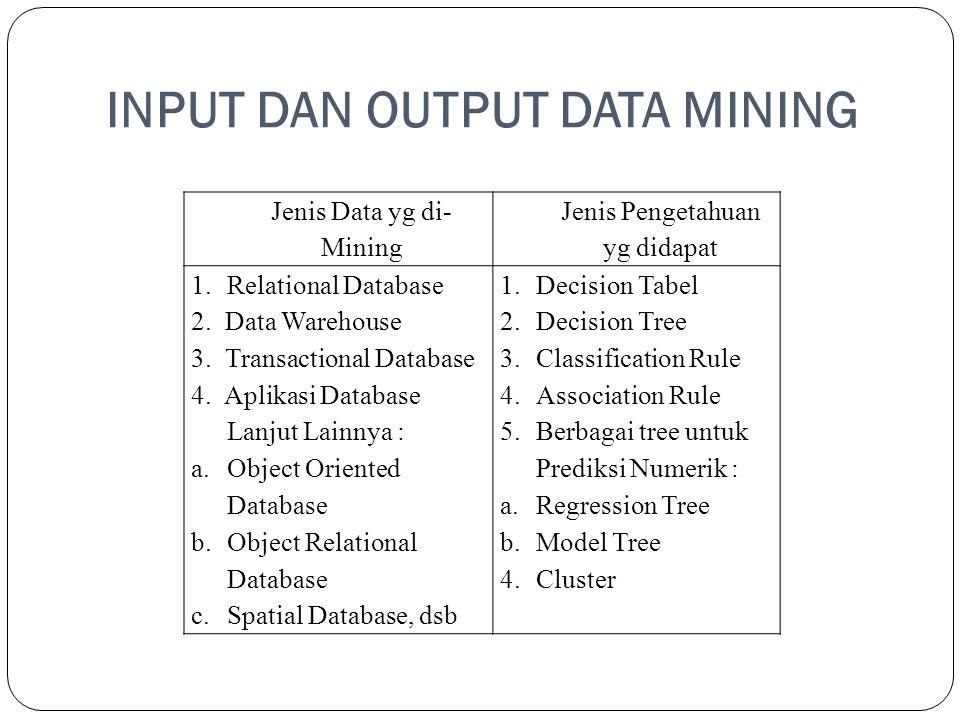 INPUT DAN OUTPUT DATA MINING
