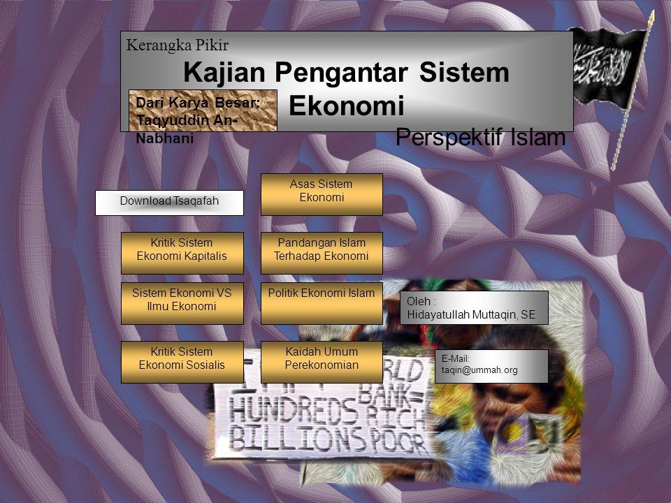 Kajian Pengantar Sistem Ekonomi