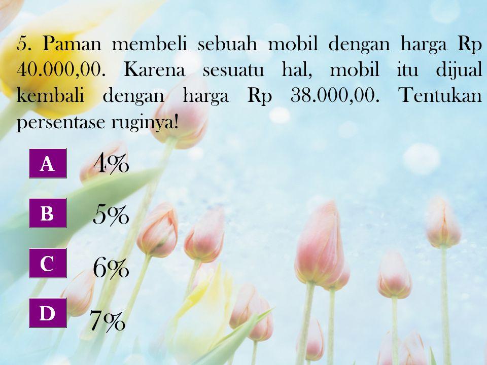 5. Paman membeli sebuah mobil dengan harga Rp 40. 000,00