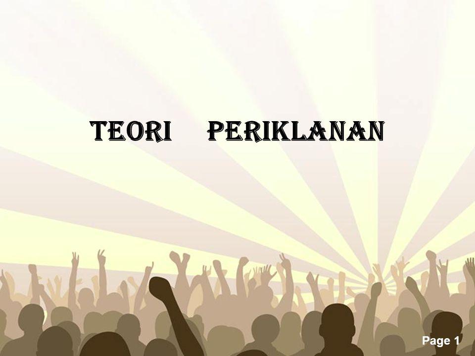 TEORI PERIKLANAN
