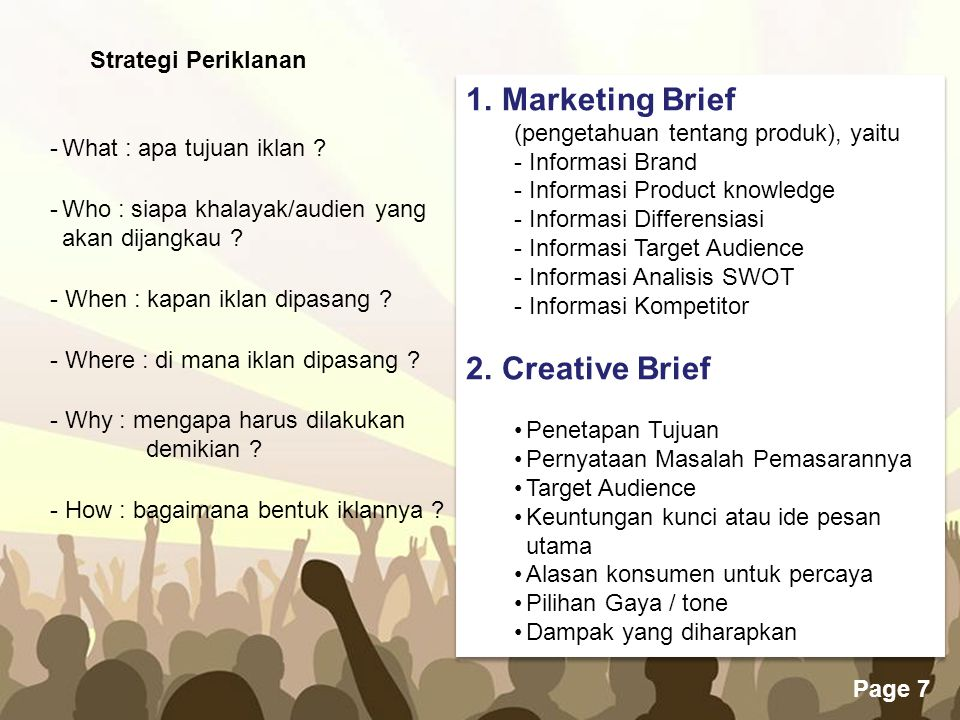 Marketing Brief Creative Brief Strategi Periklanan