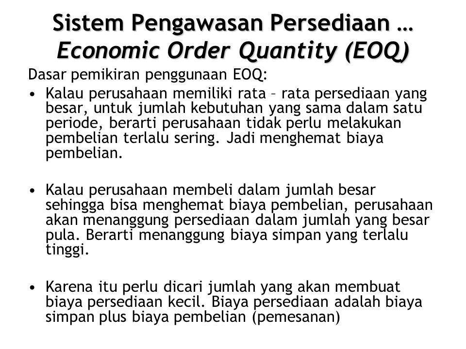 Sistem Pengawasan Persediaan … Economic Order Quantity (EOQ)