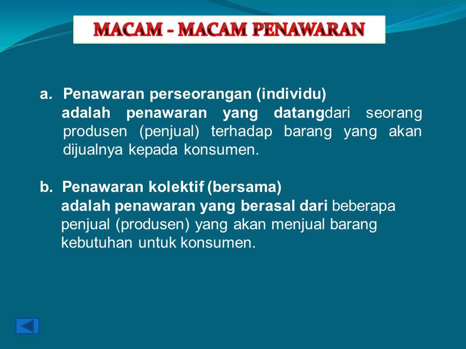 MACAM - MACAM PENAWARAN