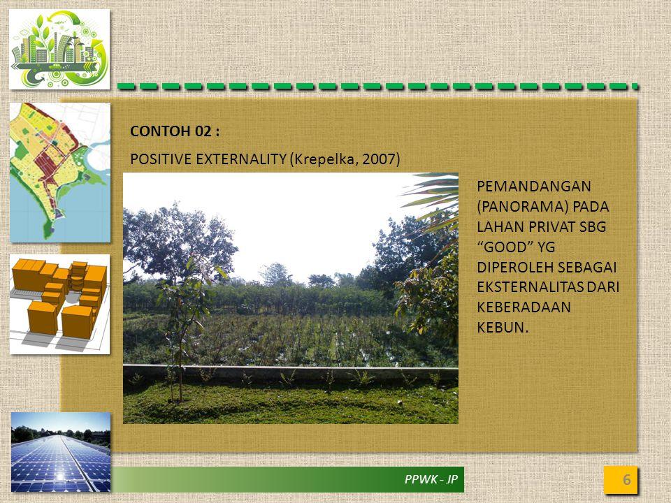 CONTOH 02 : POSITIVE EXTERNALITY (Krepelka, 2007)